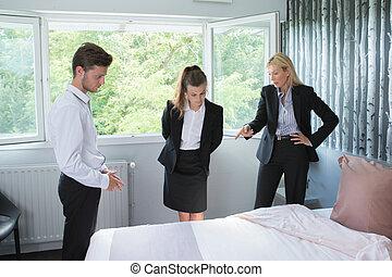概念, 部屋, ホテルの スタッフ
