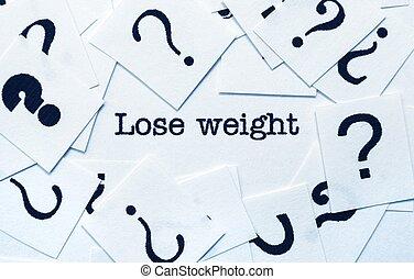 概念, 重量, 失いなさい