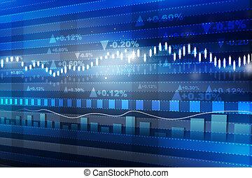 概念, 金融, 経済学, graph., チャート, 世界市場, 株