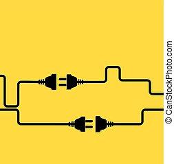 概念, electricity., 切断, 接続