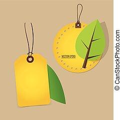 概念, illustration., 自然, banner., 木, バックグラウンド。, ベクトル, エコロジー