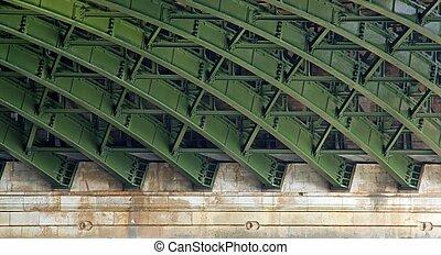 構造, 下に, 橋, 鋼鉄