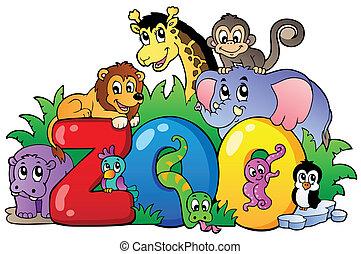 様々, 動物園, 動物, 印