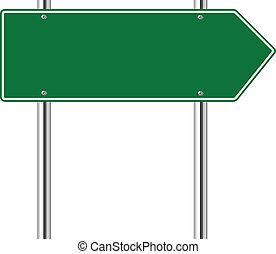 権利, 緑, 道, 矢の 印