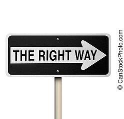 権利, -, 隔離された, 印, 方法, 道