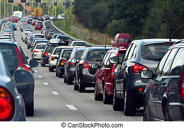 横列, 交通渋滞, 自動車