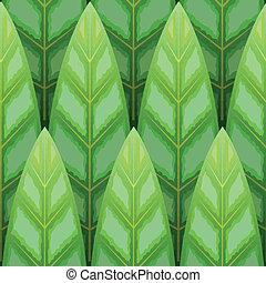 横列, 背景, 木, seamless, 葉