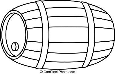 樽, 木, 輪郭