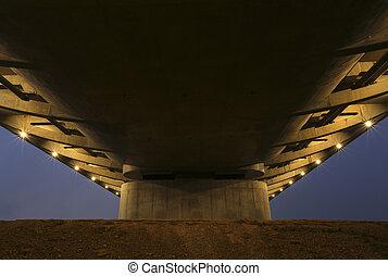 橋, 下に