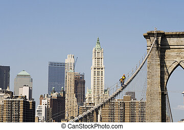 橋, 労働者, brooklyn, マンハッタン
