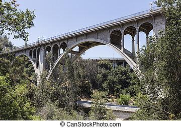 橋, 古い, パサディナ, アロヨ, カリフォルニア