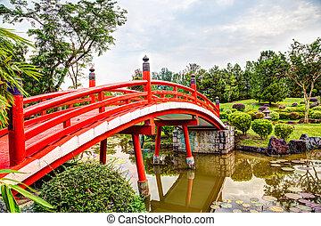 橋, 日本の庭, シンガポール