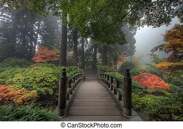 橋, 日本の庭
