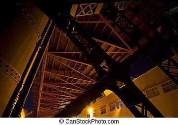 橋, 産業, 下に, 区域