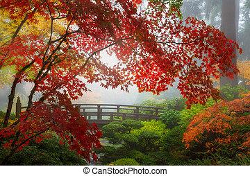 橋, 色, 秋, 月