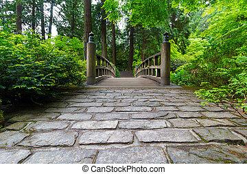 橋, 道, 木, 玉石