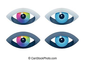 次元, 目, 3, アイコン