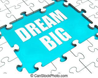 欲求, 巨大, 大きい, 困惑, 野心, 夢, 希望, ショー