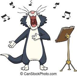 歌うこと, ねこ