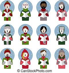 歌手, アイコン, キャロル, クリスマス