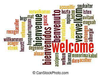 歓迎, 単語, 雲