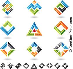 正方形, 長方形, 三角形
