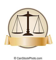 正義, シンボル, スケール, リボン