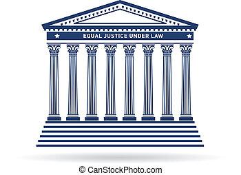 正義, 建物, イメージ, 法廷, ロゴ