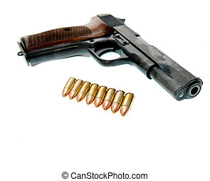 武器, -, 銃, 隔離された, 背景, 白
