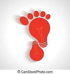 歩くこと, 創造的, 考え, アイコン