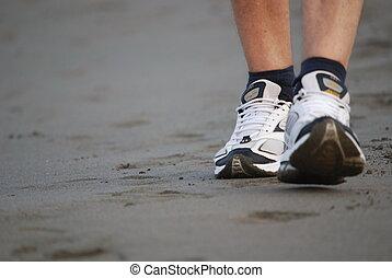 歩くこと, 浜, 人
