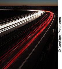 殺到, 夜, (cars, 速い, たそがれ, 引っ越し, (speedway), イギリス, ハイウェー