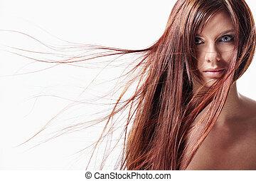 毛, 女の子, 長い間