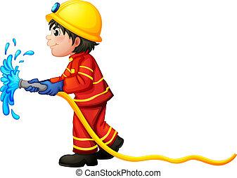 水ホース, 保有物, 消防士