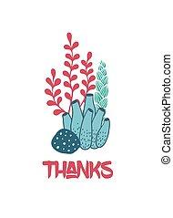 水中, ありがとう, 海草, カード, 挨拶