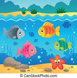 水中, 動物群, 2, 主題, 海洋