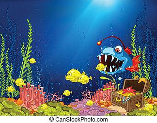 水中, 漫画, 海洋
