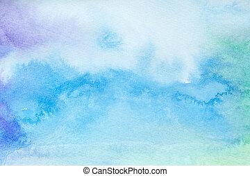 水彩画, 芸術, 絵, 色, ストローク
