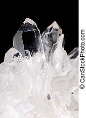 水晶, クォーツ, 黒