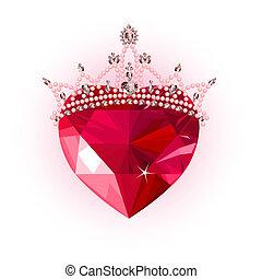 水晶, 心, 王冠