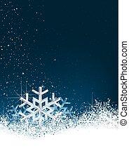 水晶, 雪, 背景