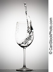 水 ガラス, はねかけること, ワイン