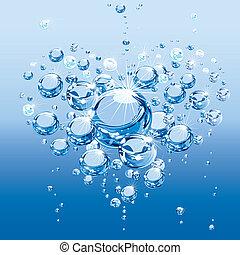 水, 泡, 愛