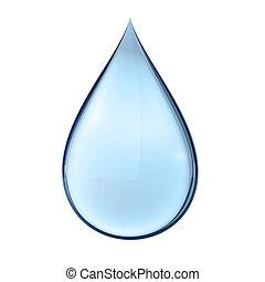 水, 白, 低下, 3d