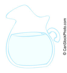 水, pitcher.