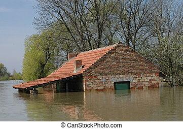 氾濫, まさしく, 災害