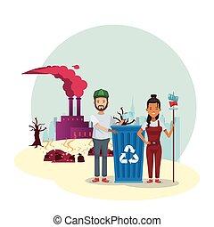 汚すこと, 恋人, 工場, environmentalists