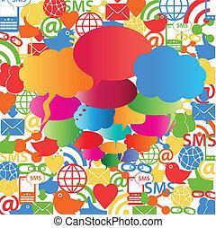 泡, スピーチ, ネットワーク, 社会