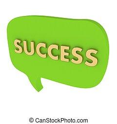 泡, スピーチ, 単語, 成功