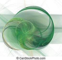 泡, 緑の背景, 技術的である